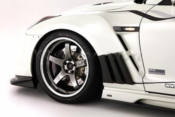 Car Accessories FRP Fiber Glass VS '13 Ver. Style Front Fender Fit For 2008-2014 R35 GTR CBA DBA Front Fender&Extension Cover