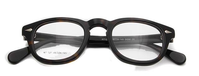 81c2f6ab7d356 Johnny Depp Óculos de alta Qualidade óculos occhial Quadro Redondo Retro Do  Vintage Feitos À Mão