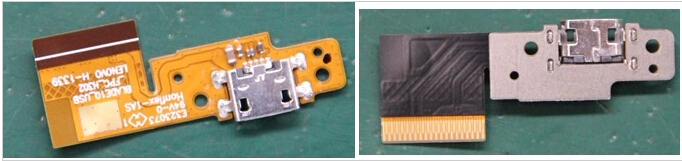 ФОТО Original For LENOVO B8000 USB Charging Port Dock Connector Charger Flex Cable Blade10_USB_FPC_H302