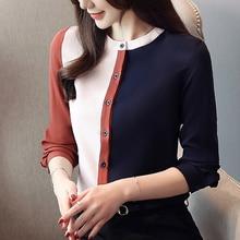 цена на Womens Tops and Blouses Chiffon Women Blouses Women Long Sleeve Shirts Korean Fashion Plus Size XXL Blusas Femininas Elegante