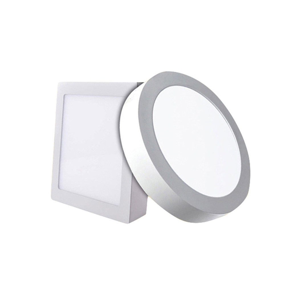 6w 12w 18w Round Square Led Panel Light Surface Mounted