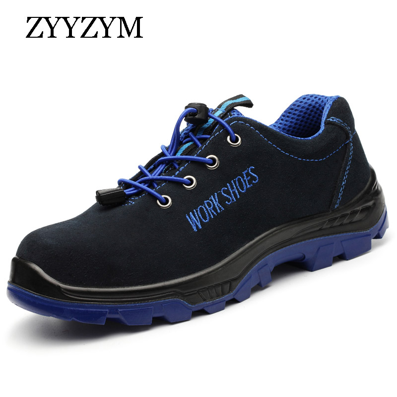 ZYYZYM Men Work Safety Shoes Outdoor Steel Toe Cap Military Boots Men Puncture Proof Army Boots 3colors army embroidery cap casual outdoor us navy baseball caps holiday army fans army embroidery cap gorras beisbol army
