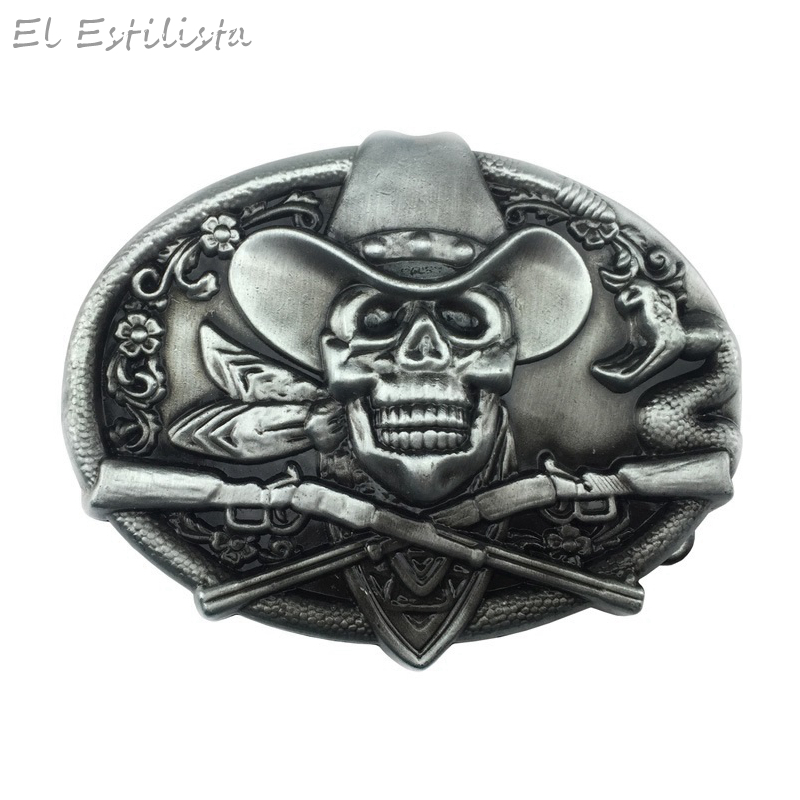Aspiring Punk Style Skull Fashion Belt Buckle Mens High Quality Heavy Metal Cowboy Jeans Buckles For 4cm Belts Novelty Accesorios Gifts Clients First Apparel Sewing & Fabric Buckles & Hooks