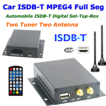 12V-24V Full One Seg ISDB-T Car Digital TV Receiver With Two Tuner Antenna 2