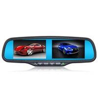 ANSHILONG Dual 4.3 TFT LCD Rear View Car Monitor Mirror 2CH Video In 2pcs Screen Display Universal Version Free Shipping