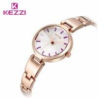 Watches Women Luxury Brand Watch Kezzi Quartz Digital Women Full Steel Wristwatches Dive 30m Casual Watch