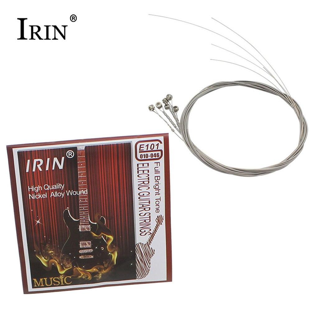 2 sets! IRIN E101 Niquelado Acero Cuerdas para Guitarra Eléctrica Set Partes de