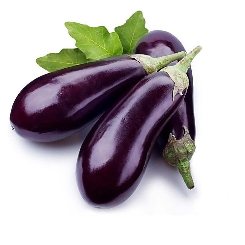 Vegetable Seeds Balcony Bonsai Purple Long Eggplant 30 Pack Garden Decoration Flower