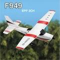 Caliente Original WLTOYS F949 RC avión de Control remoto 2.4 GHz 3CH EPP de ala fija avión eléctrico del vuelo de los aviones RTF juguetes de los niños