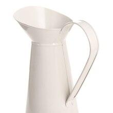 Nuevo jarrón Retro de hierro Chic jarra de esmalte en crema Vintage jarra maceta de flores para el hogar jardín decoración de flores de boda estilo Pastoral artesanal