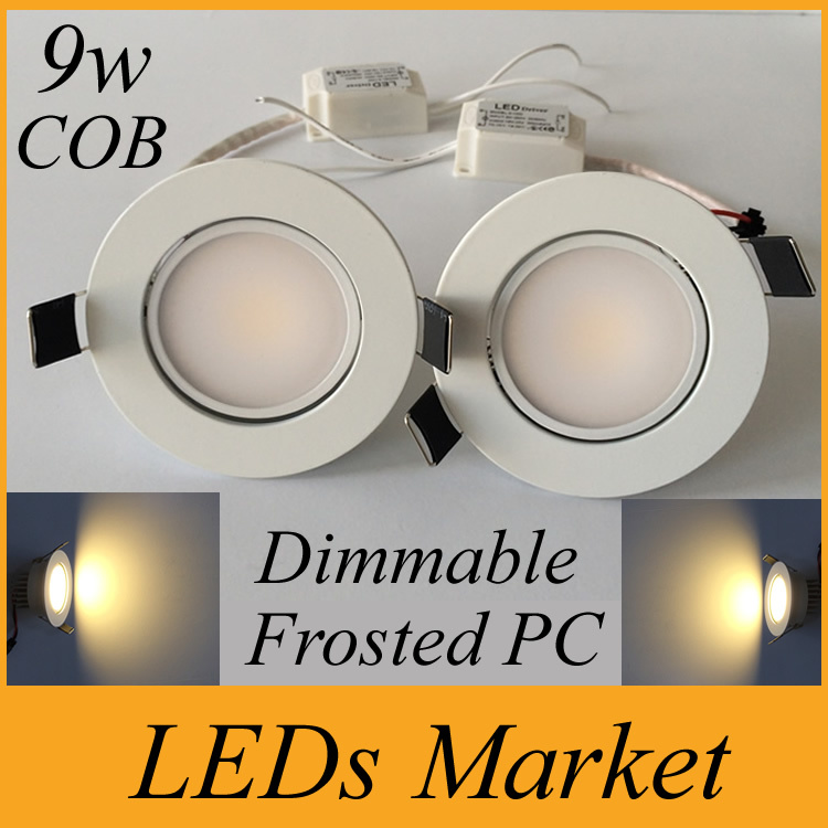 New arrival cob 9w led downlight dimmable led recessed lights 110 new arrival cob 9w led downlight dimmable led recessed lights 110 240v led spot light bulb lamp white shell frosted pc driver in downlights from lights mozeypictures Choice Image