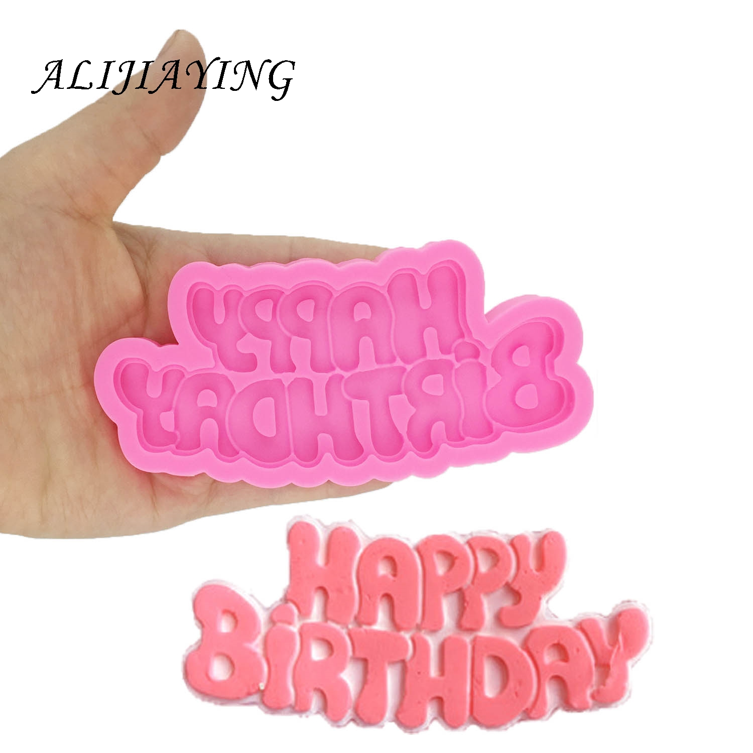 DIY Happy birthday shape Sugarcraft Silicone Molds letter Gumpaste Chocolate <font><b>Fondant</b></font> <font><b>Cake</b></font> <font><b>Decorating</b></font> <font><b>Tools</b></font> wholesale D1333 image
