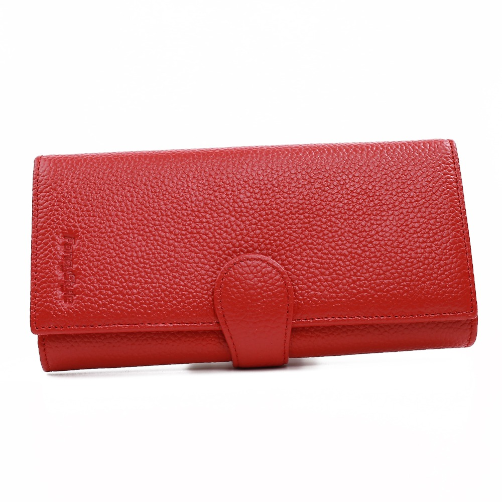 ФОТО Blocking Anti Scan RFID Wallet Ladies Clutch Purse FancyStyleStylish Genuine Leather Wallet for Birthday Gifts Black Red