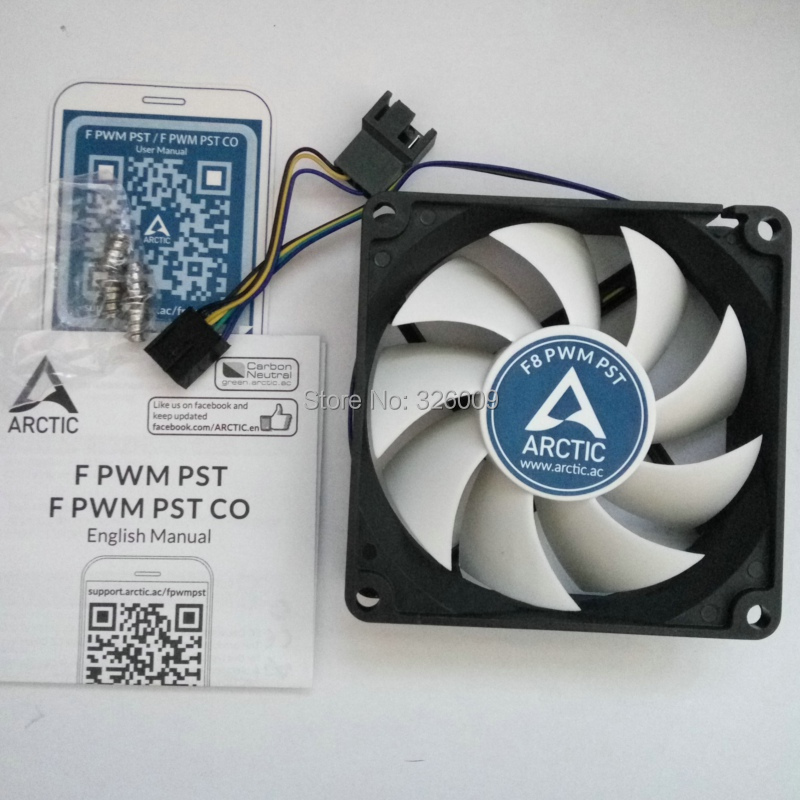 US $9 33 |Arctic F8 PWM PST 4pin 8cm 80mm Cooler cooling fan temperature  control silent fan Genuine original-in Fans & Cooling from Computer &  Office