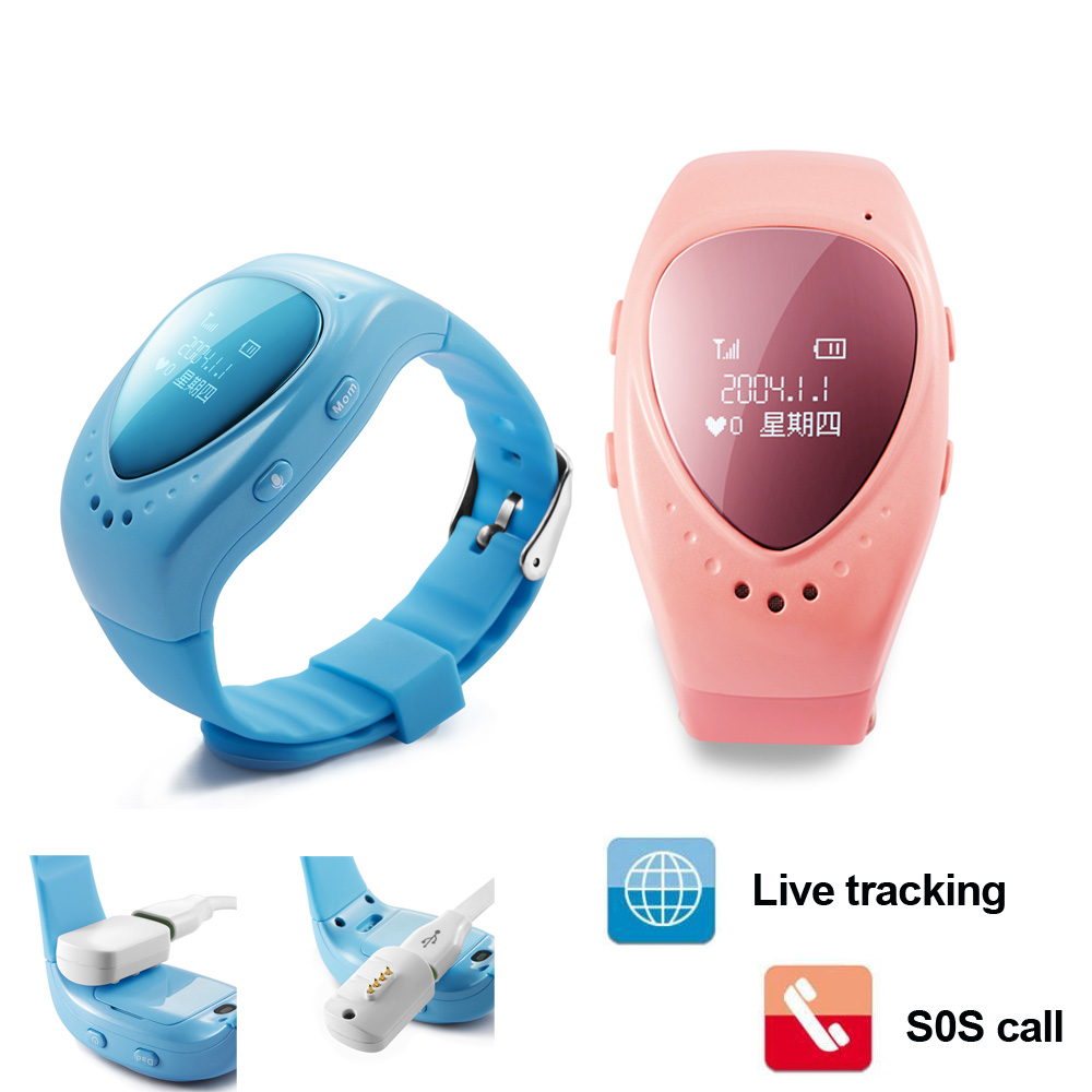 A6 GPS Tracker Watch for Kids Children Smart Watch with SOS button GSM phone support Android&IOS for Kid Safe Anti-Lost Monitor