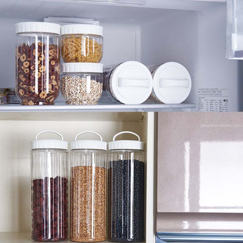 Kitchen Transparent Food Storage Container With Lids Sealing Pot Cereal Grain Bean Rice Sealed Plastic Milk Powder Jar