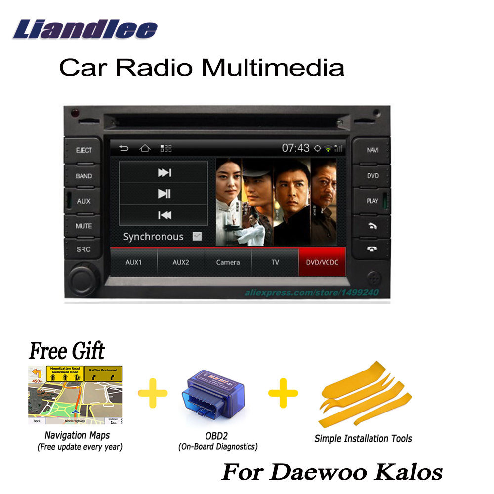 Liandlee For Daewoo Kalos 2 din Car Android GPS Android navigation navi maps CD DVD palyer radio HD Screen OBD2 TV