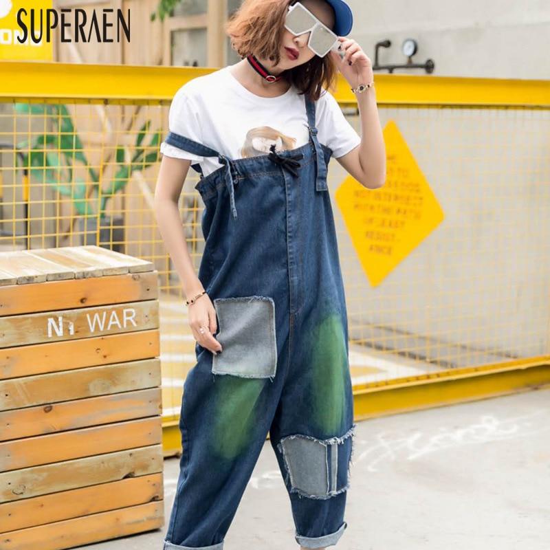 Pantalones Mujer Estilo Vaqueros Femenina Y Primavera Mujeres Casual De Overoles Moda Jeans 2019 Nuevos Salvaje Coreano Superaen Blue Verano qnfvX6ww