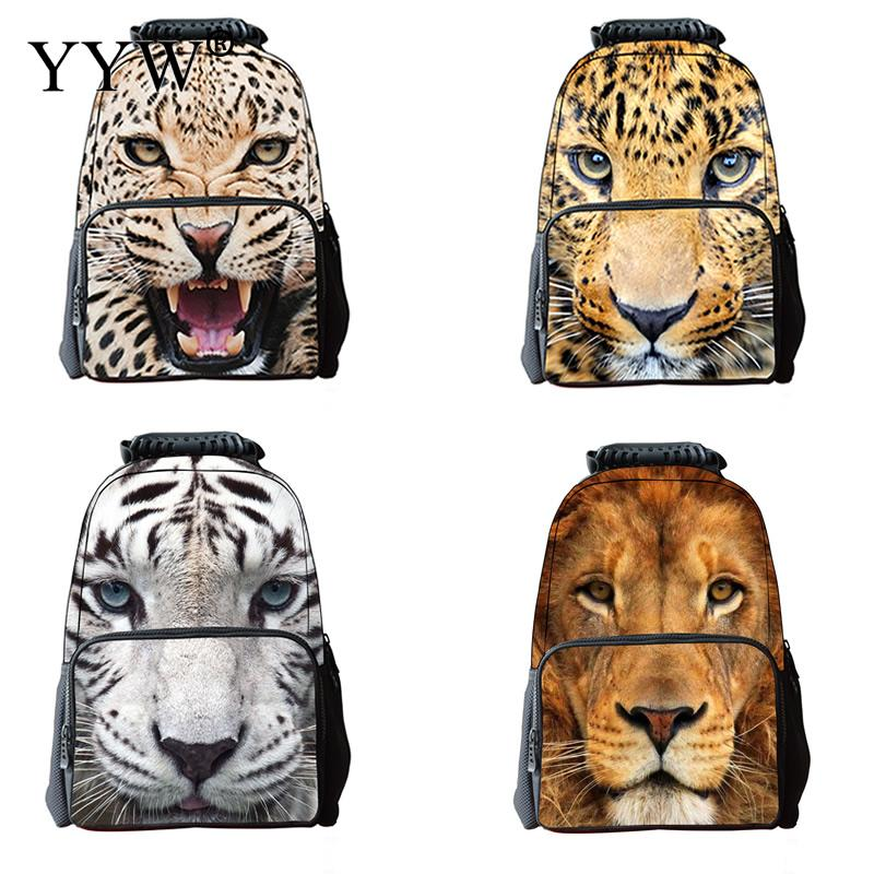 3D Printing Animal Head Backpack Large Capacity Laptop Backpack Men Women School Bag For Teenager Cool Fashion Travel Backbags