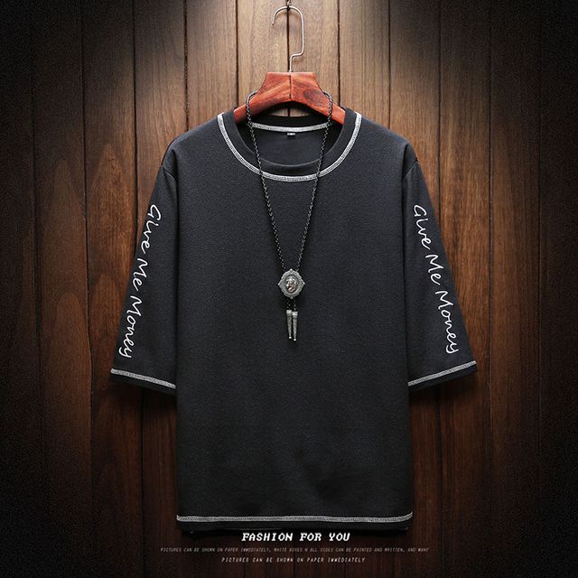 T-Shirt imprimé Hommes Streetwear Hip Hop