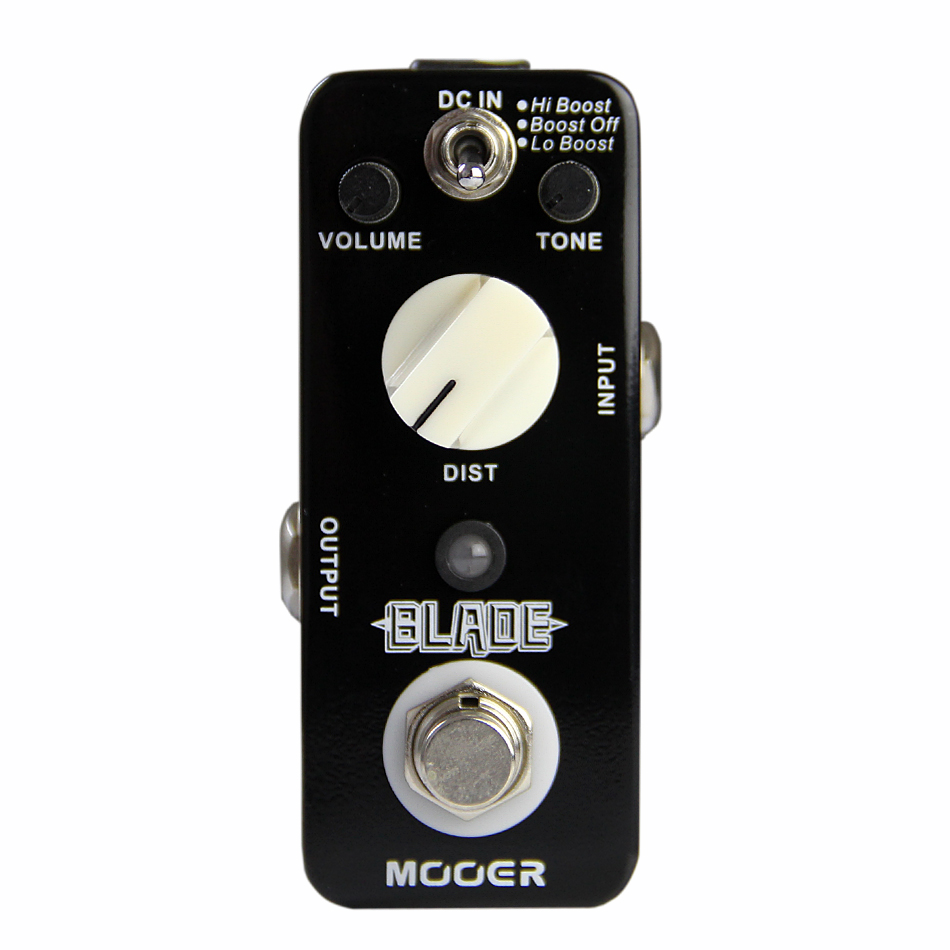 ФОТО NEW MOOER BLADE Metal Distortion Pedal , electric guitar effect Pedal ,guitar effects True bypass