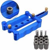 DWZ New 6 8 10mm Self Centering Dowelling Jig Metric Dowel Drilling Wood Drill Kit