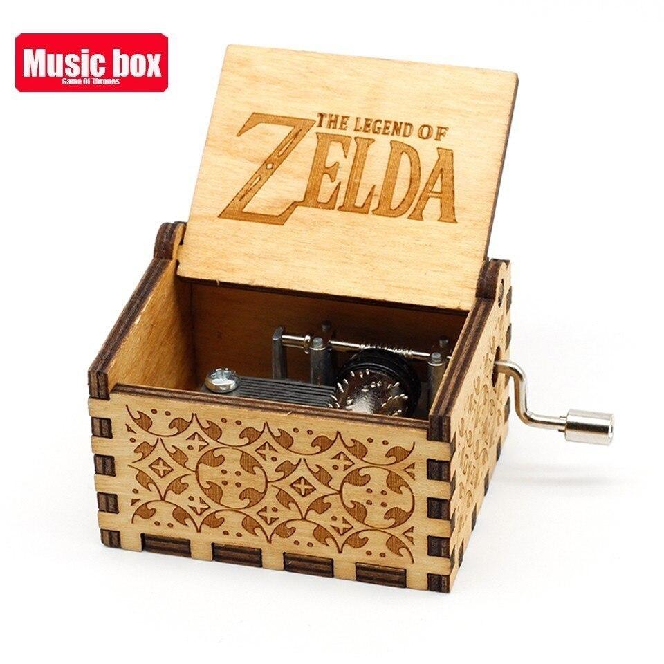 Горячая античная резная деревянная рукоятка Симпсоны игра трон музыкальная шкатулка подарок на день рождения Шкатулка анонимичность украшения Звездные войны - Цвет: The Legend of Zelda