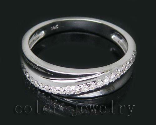 Винтажные 14Kt белого золота 0.18Ct Pave Обручальное Кольцо Новый элегантный кольцо продажи SR0040 ...
