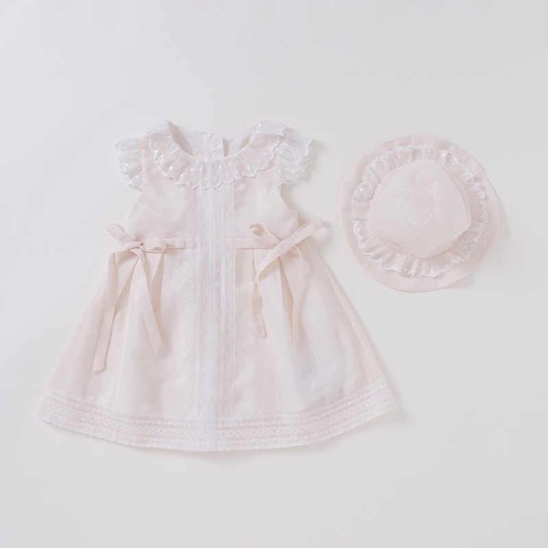 e2abab42c0ccb Vlinder Baby Girl dress baby clothes Summer Princess Style Cute Bow Tie  Dress Newborn Short Sleeves Infant Dresses 2pcs set