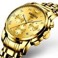 NIBOSI, новинка 2019, мужские часы, Топ бренд, роскошные золотые часы для мужчин, водонепроницаемые, бизнес, наручные часы, нержавеющая сталь, Relogio ...