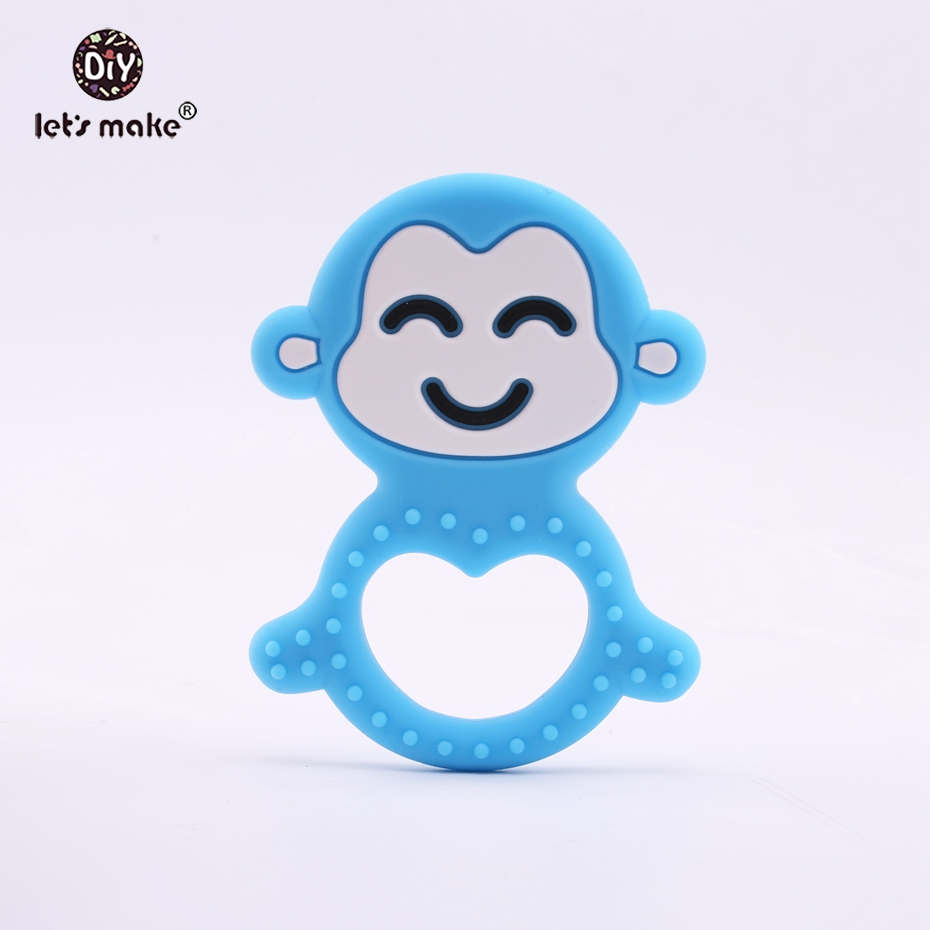 Impartial Lets Make Silicone Monkey Teether 1pc Bpa Free Diy Baby Nursing Necklace Jewelry Accessories Teething Pendant Baby Teether Famous For Selected Materials Delightful Colors And Exquisite Workmanship Novel Designs