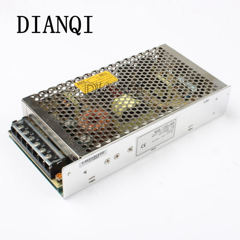 DIANQI power supply 48v 150w 48V 3.2A power suply 150w mini size led power supply unit  ac dc converter ms-150-48
