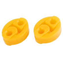 4 Pcs 2 Holes Race Car Truck Muffler Exhaust Hanger Bushings Yellow