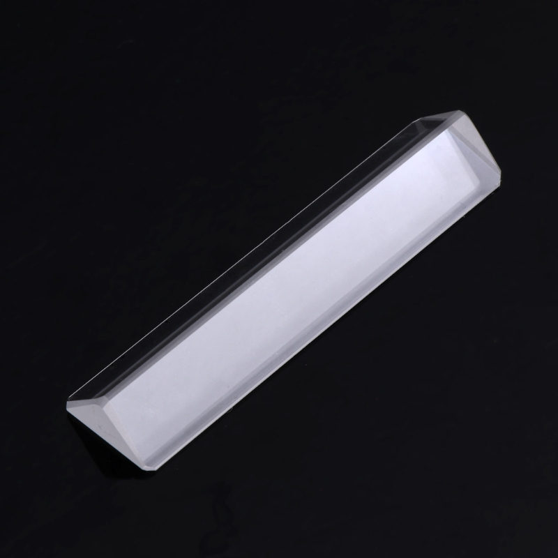 Triangular color prism K9 Optical Glass Right Angle Reflecting Triangular Prism For Teaching Light Spectrum kzj 108p k9 rectangular prism