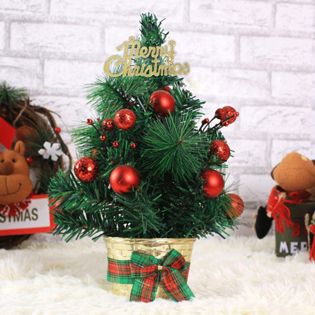 mini small artificial christmas tree holiday new year festival party ormament xmas decoration indoor home decor - Small Artificial Christmas Tree