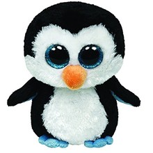 "Pyoopeo Ty Beanie Boos 10"" 25cm Waddles Penguin Plush Stuffed Animal Medium Collectible Soft Big Eyes Doll Toy with all Tags"