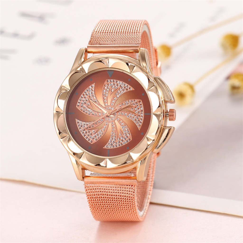 Fashion Stainless Steel Strap Watch Women Quartz Watch Montre Femme Crystal Diamond Wrist Watches Clock Women Watches Relojes