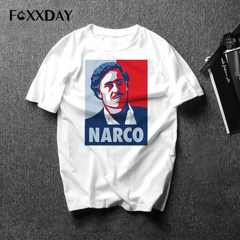 Cotton Clothing Male casual T Shirt Pablo Escobar T Shirts Mens Fashion New Brand Printed Man Tee shirts La camiseta