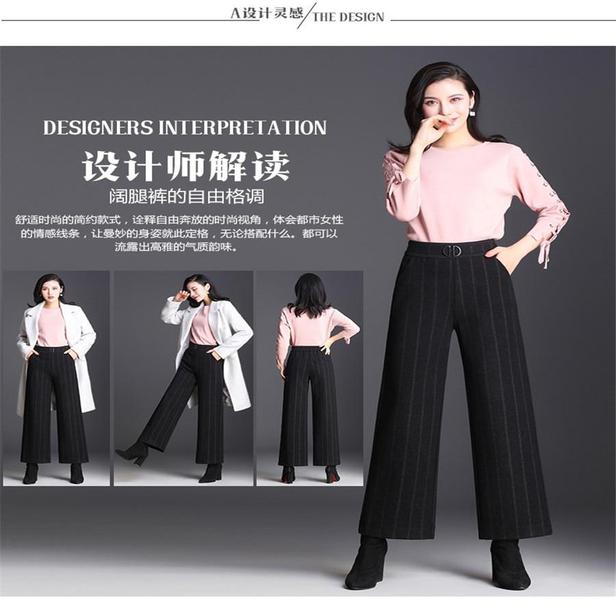 Deportes Cintura dark Black Temperamento Grey Tamaño Casual Gran Punto Mujer Ancha Alta De Cortina Rectos 2018 Pierna Pantalones pd8gg