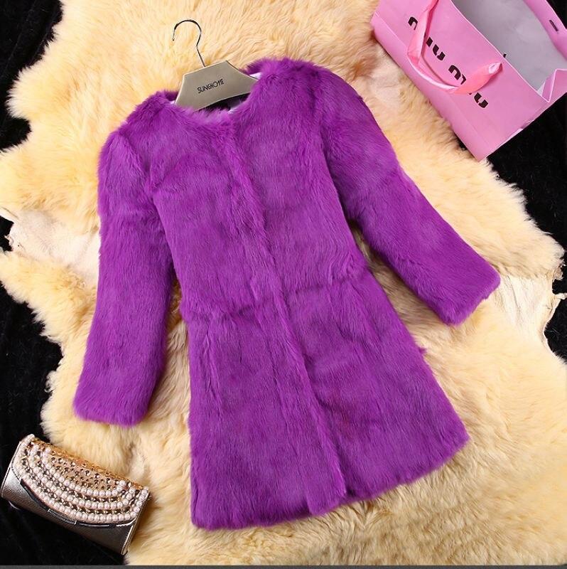 2019 New arrival winter genuine rabbit fur coat women long sleeve real fur jacket plus size S - 6XL available