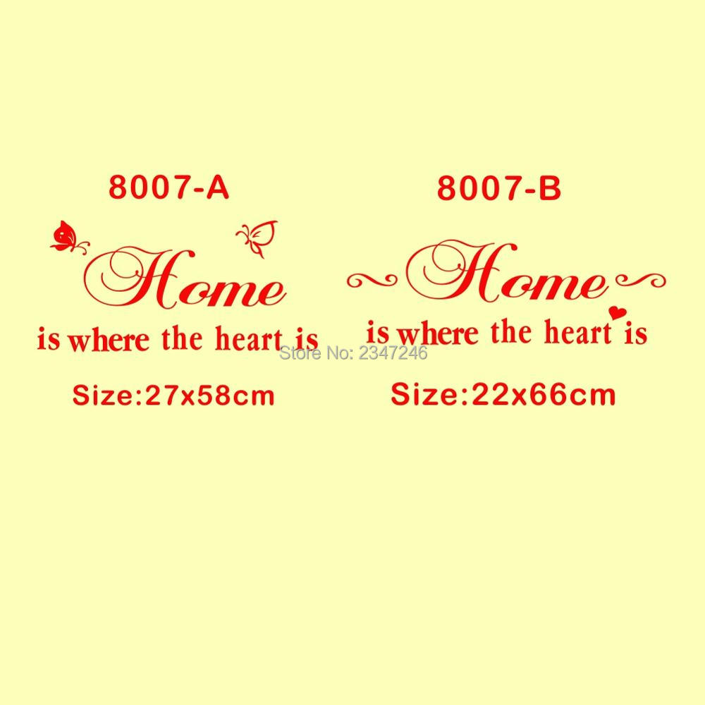 Home Is Where The Heart Is Quote Aliexpress  Buy Home Is Where The Heart Is Quotes Wall Decal