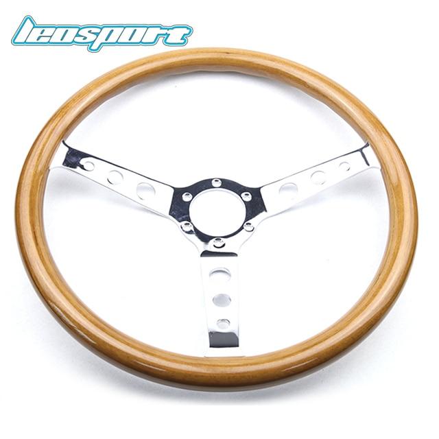 Universal Classic 380mm 15inch Car Wooden Grain Steering Wheel