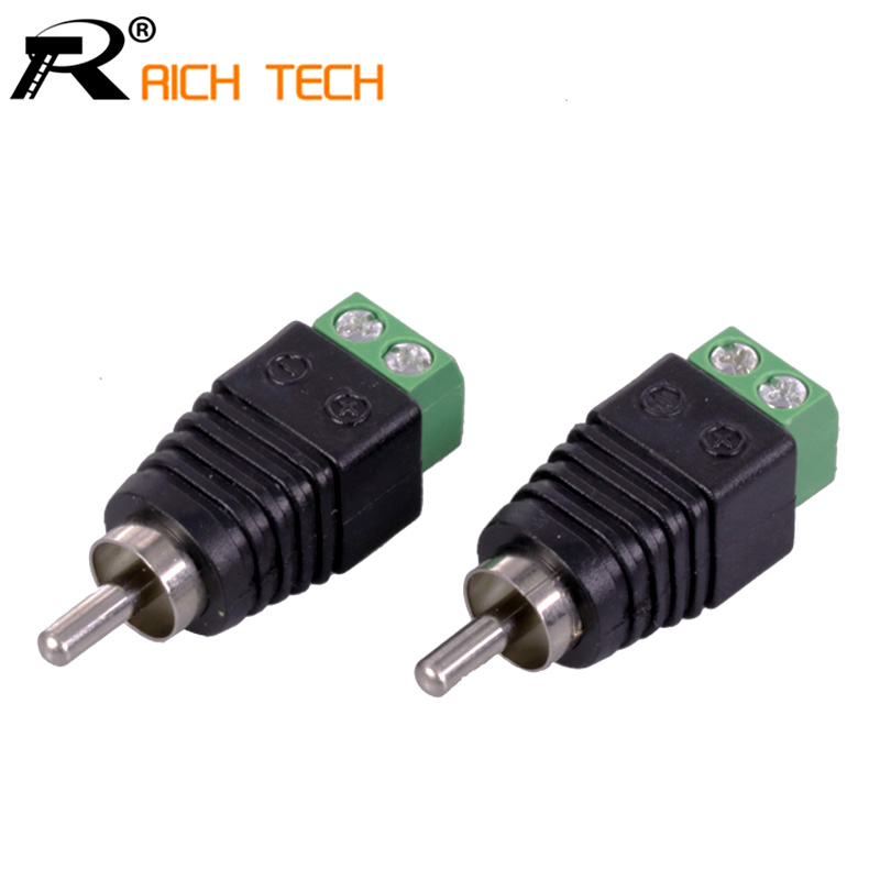 3pcs/lot CCTV Phono RCA Male Plug TO AV Terminal Connector Video AV Balun International Standard купить