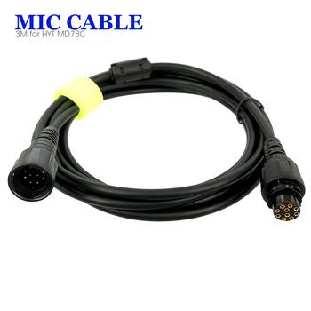 3 M mikrofon kabel przedłużający HYT Hytera MD780 MD650 Radio samochodowe Walkie Talkie z wzmocnienia sygnału pierścień magnetyczny tanie i dobre opinie oppxun CN (pochodzenie) IP45 Przenośne 1 5 km-3 km 50w 3M Microphone Extend Cable for HYT Hytera MD780 MD650 Car Radio