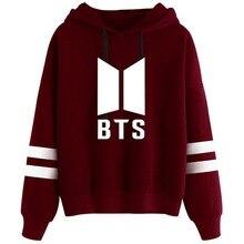 BTS Felpe Con Cappuccio Delle Donne di New Kpop Bangtan Hip Hop Lettera di  Stampa Outwear 3945da254f8e