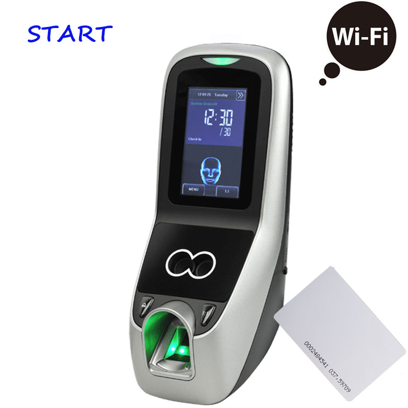 Iface 7 Multibio700 WiFi Biometric Face & Fingerprint Time Attendance And Access Control System Rfid Face Door Access Controller