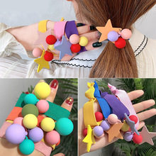 AHB 1Pc Korean Candy Hair Rubber Band for Women Tiaras Tie Elastic Rope Ponytail Gum Headband Girls Accessories