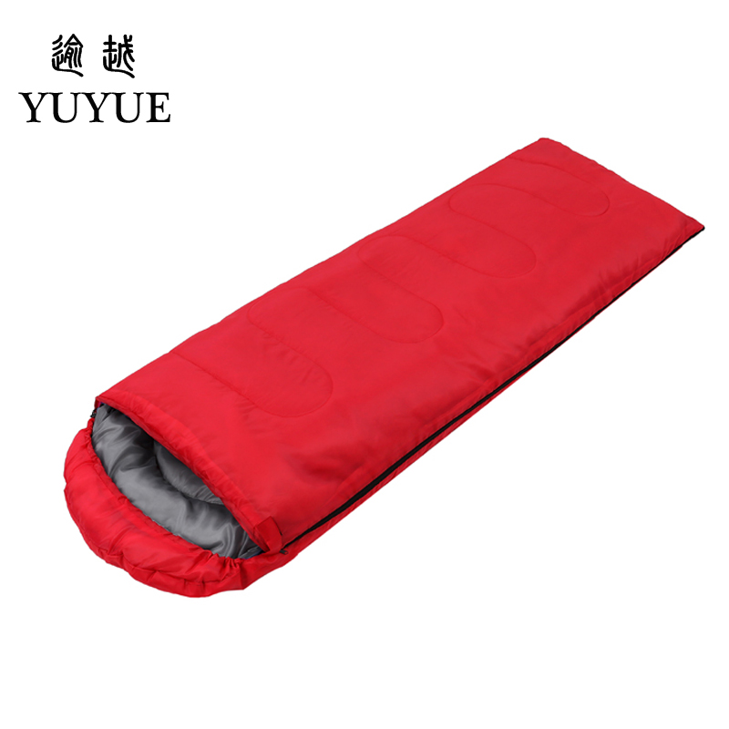 Outdoor 3 season adult cotton sleeping bag cotton for camping tent with envelope type customized sleeping bag cheap sleeping bag 2