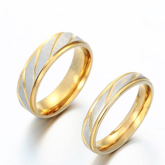 Auxauxme Titanium Steel Engrave Lovers Couple Rings 3