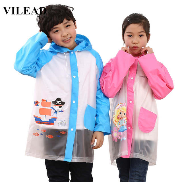 24b51ea0cc88 Online Shop VILEAD Cute Cartoon Waterproof Hat Raincoat PVC Rainwear ...
